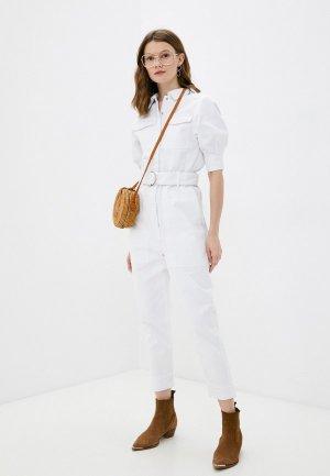 Комбинезон джинсовый Francesco Donni. Цвет: белый