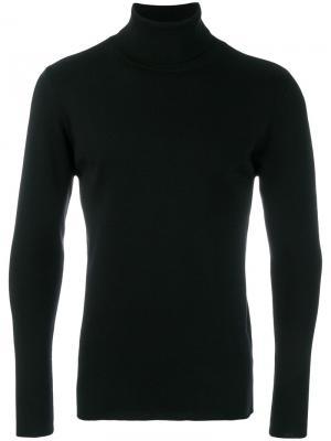 Классический свитер с отворотной горловиной Kris Van Assche. Цвет: чёрный