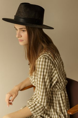 Шляпа HILLMAN BAILEY. Цвет: черно-бежевый