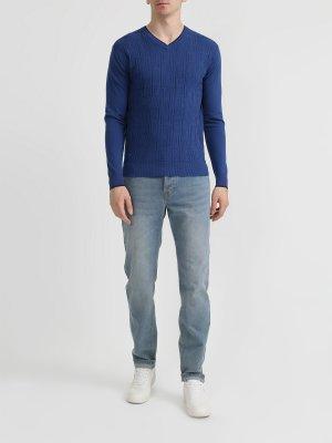 Пуловер Alessandro Manzoni. Цвет: siniy