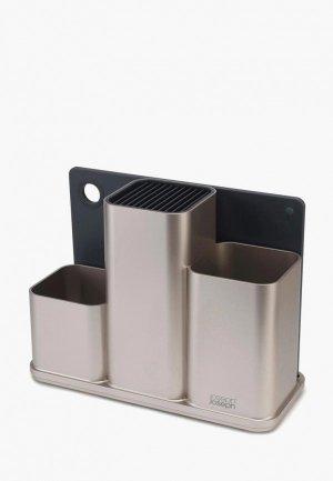 Подставка для кухонных инструментов Joseph CounterStore. Цвет: серый