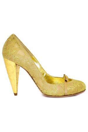 Туфли Gerardina di Maggio. Цвет: золотой