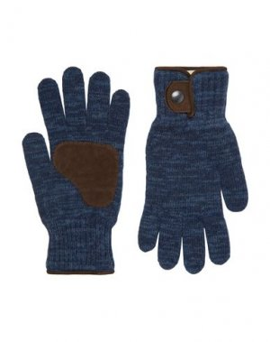 Перчатки OLIVER SPENCER. Цвет: синий