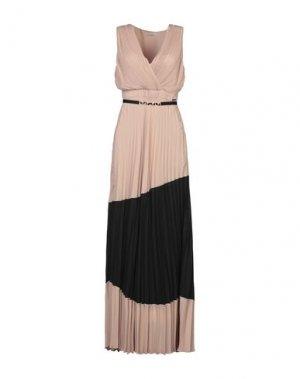 Длинное платье CRISTINAEFFE. Цвет: песочный