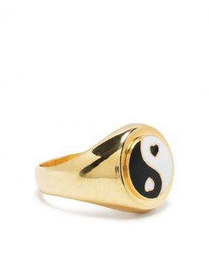 Перстень из позолоченного серебра Wilhelmina Garcia. Цвет: золотистый