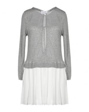 Короткое платье ANNA RACHELE JEANS COLLECTION. Цвет: серый