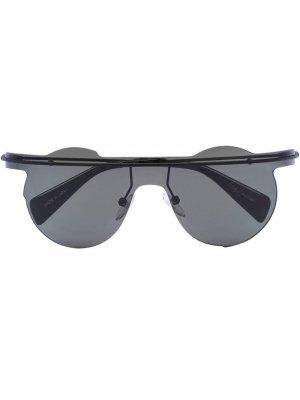Солнцезащитные очки YY7027 Yohji Yamamoto. Цвет: черный