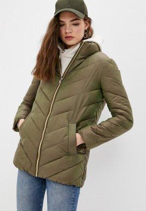Куртка утепленная Снежная Королева JSS1OC07. Цвет: хаки
