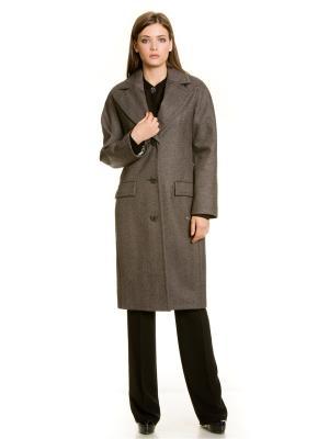 Пальто Levall. Цвет: черный, серый