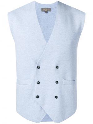 Кашемировый жилет N.Peal. Цвет: синий