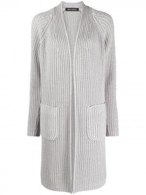 Вязаный кардиган-пальто Iris Von Arnim. Цвет: серый
