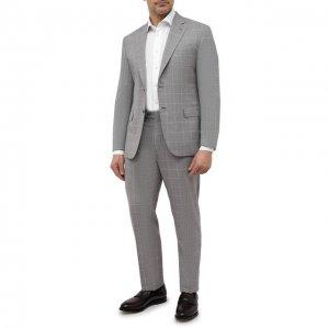 Шерстяной костюм Brioni. Цвет: серый