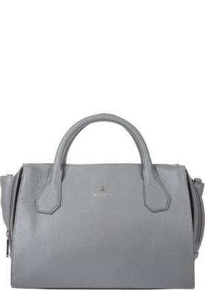 Кожаная сумка с тремя отделами Modalu London. Цвет: серый
