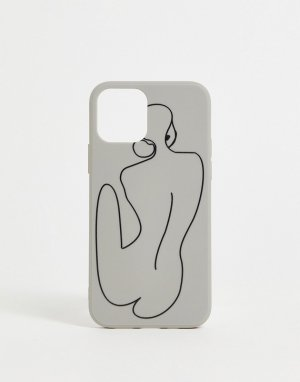 Чехол с наброском для iPhone 12 Madein-Белый Madein.