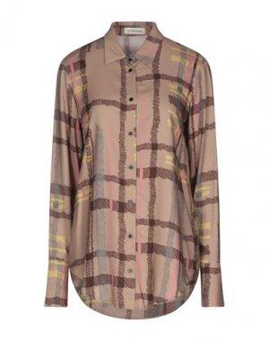 Pубашка LA FABRIQUE. Цвет: светло-коричневый