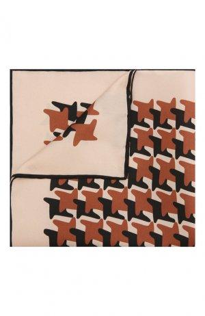 Шелковый платок Tom Ford. Цвет: коричневый