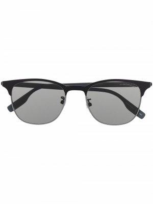 Солнцезащитные очки в роговой оправе Montblanc. Цвет: черный
