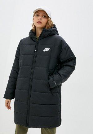 Куртка утепленная Nike W NSW TF RPL CLASSIC HD PARKA. Цвет: черный