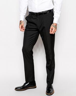 Черные брюки классического кроя ASOS. Цвет: черный