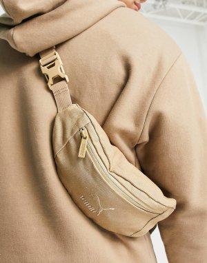 Коричневая выбеленная сумка-кошелек на пояс PUMA-Розовый цвет Puma
