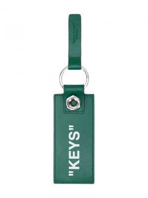 Брелок для ключей Off-White. Цвет: зеленый
