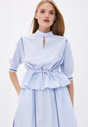 Блуза Bikkembergs. Цвет: голубой
