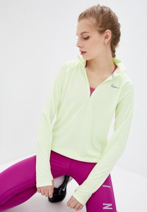 Лонгслив спортивный Nike W NK PACER HZ. Цвет: желтый