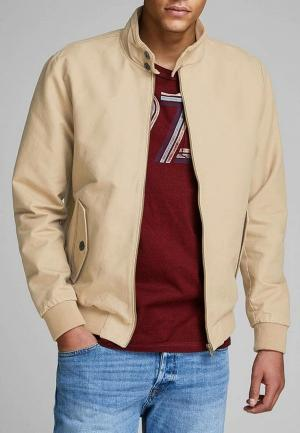 Куртка Jack & Jones. Цвет: бежевый