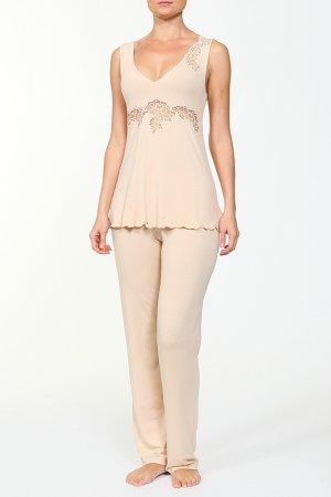 Комплект: майка и брюки Cotton Club. Цвет: мультицвет