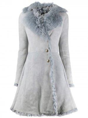 Пальто А-силуэта 1990-х годов Alaïa Pre-Owned. Цвет: серый
