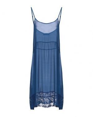 Платье до колена ANNA RACHELE. Цвет: синий