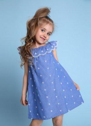 Сарафан для девочек O`Stin. Цвет: пыльно-голубой