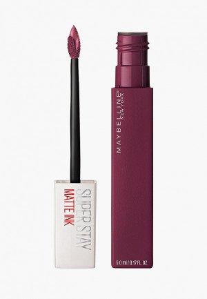 Помада Maybelline New York Суперстойкая Super Stay Matte Ink, оттенок 40, Сторонние, 5 мл. Цвет: бордовый