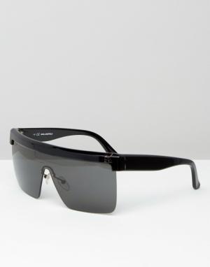 Солнцезащитные очки-маска Karl Lagerfeld. Цвет: черный
