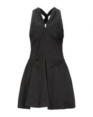 Короткое платье CARVEN. Цвет: черный