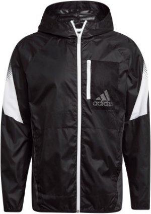 Ветровка мужская adidas D2M Seasonal, размер 52-54. Цвет: черный