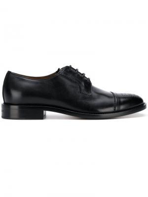 Оксфорды с контрастным носком Givenchy. Цвет: черный