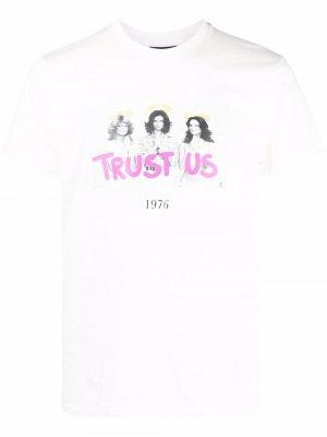 Trust Us graphic-print T-shirt Throwback.. Цвет: белый