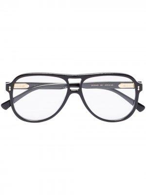 Aviator frame glasses Gucci Eyewear. Цвет: черный