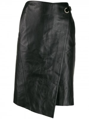 Юбка с запахом Karl Lagerfeld. Цвет: черный