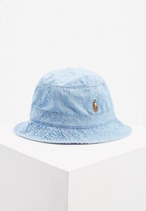 Панама Polo Ralph Lauren. Цвет: голубой