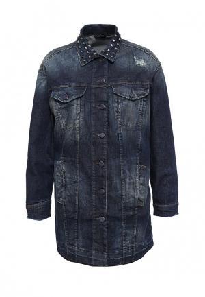 Куртка джинсовая Sisley. Цвет: серый