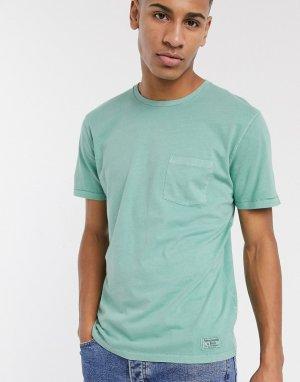 Зеленая футболка с круглым вырезом и логотипом -Зеленый Abercrombie & Fitch