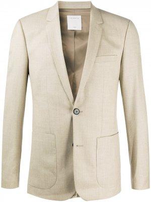 Пиджак узкого кроя Sandro Paris. Цвет: нейтральные цвета