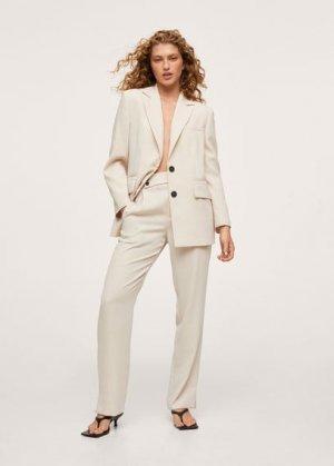 Костюмный пиджак с карманами - Vica-i Mango. Цвет: грязно-белый