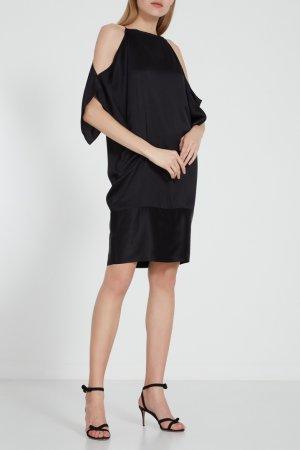 Черное платье с открытыми плечами Aquilano.Rimondi. Цвет: черный
