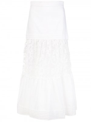 Расклешенная юбка Gwenda Alexis. Цвет: белый