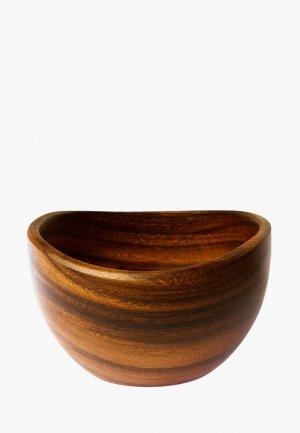 Салатник Oriental way 15*15 см. Цвет: коричневый