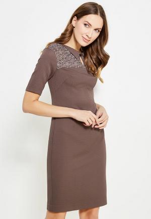 Платье Key. Цвет: коричневый