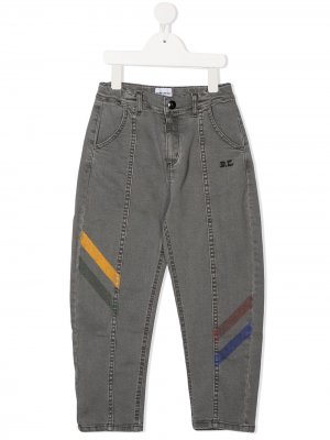 High-rise diagonal stripe jeans Bobo Choses. Цвет: серый